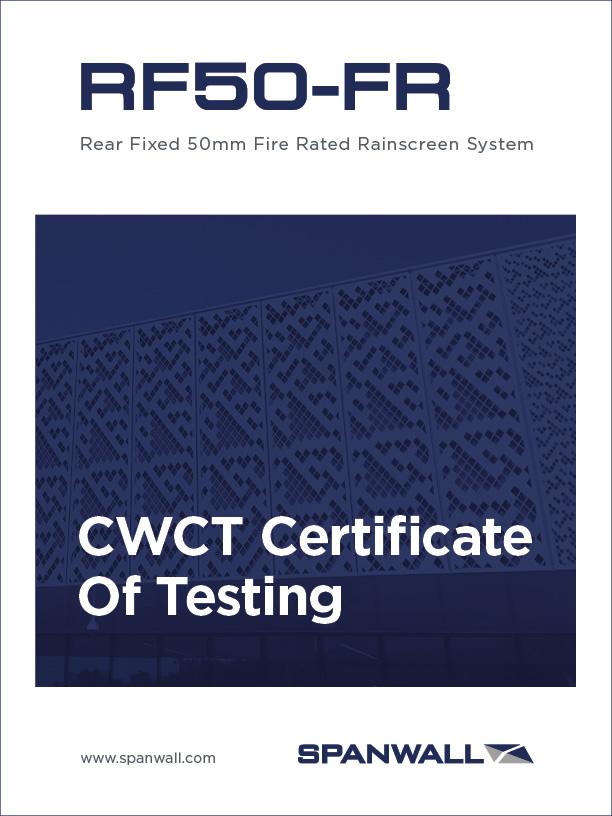 Spanwall RF50-FR CWCT Certificate of Testing