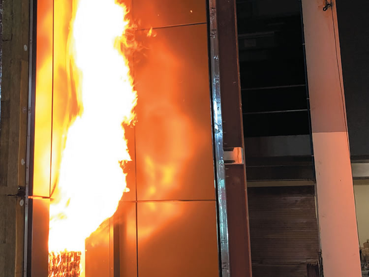 The New Spanwall RF50-FR passes Fire Test
